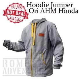 (Kirim Bayar Ditempat) jaket hoodie ori honda ahm