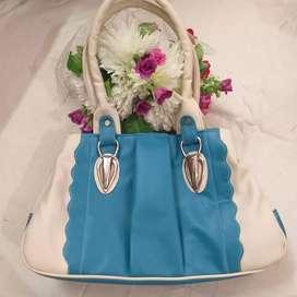 Blue cream Handbag
