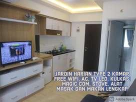 Apartemen harian type 33 2 kamar