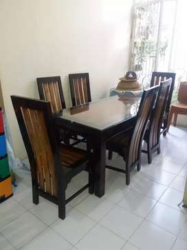 Meja makan kursi jati minimalis