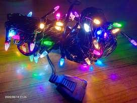 Lampu Tumbler/Hias Model Roket Dan Kristal RGB Kabel Hitam