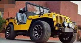 Modified yellow jeep