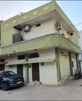 Independent G+1 house 105 Sq.Yrd 2 side road for sale at Santosh Nagar