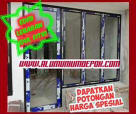 Kusen aluminium dan daun pintu -  edisi lebaran