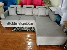 Sofa L tamu baru
