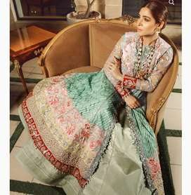 Unstitched maryam hussain Mehndi/formal dress for women