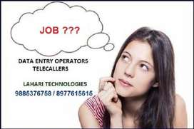 Wanted Data Processing Executives in Lahari Technologies