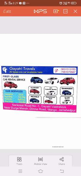 ALL TYPES ARE CAR AVAILABLE HERE FOR RENT yaha bhde par gadi uplabh ha