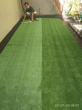 Rumput Sintetis Rumput Hijau Alami Untuk Lantai Rumah