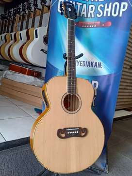 Gitar akustik laser inlay kerang
