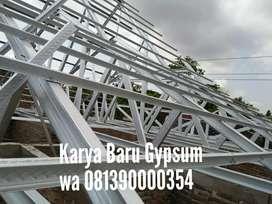 kanopi baja ringan / rangka atap baja ringan