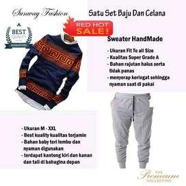 AM00222 Celana Setelan Satu set Sweater dan celana jogger