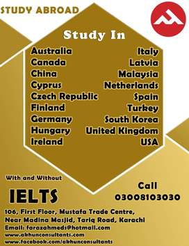 Study in ITALY / UK Visit Visa / Canada Work / Turkey Property