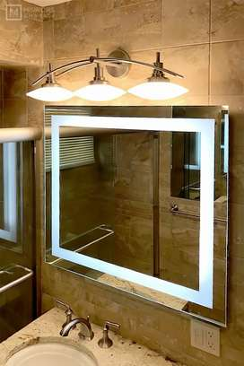 Light Mirror with bath cabin