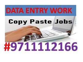 Offline Data Entry Job, part-time job,typing Copy Paste Job