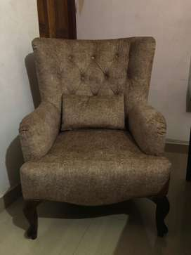 Royal Beige Wing Chair