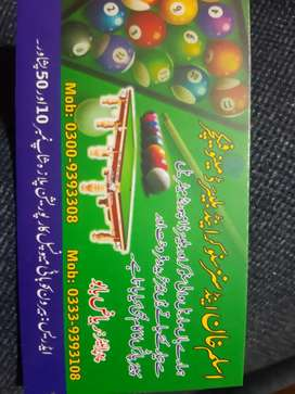 Aslam khan snooker and billiard manufacture