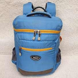 Backpack Impact biru nylon tebal berbusa