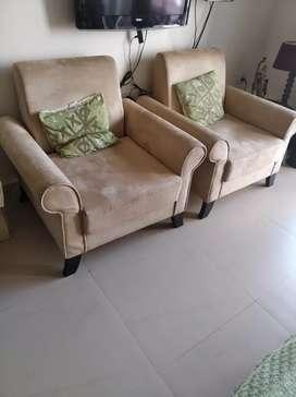 Two single sofas