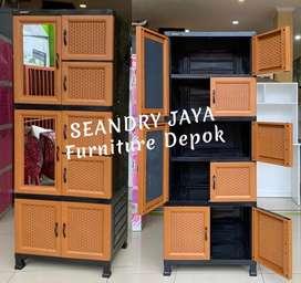 SEANDRY JAYA Furniture Depok/Lemari Plastik Napoly/murah anyaman murah