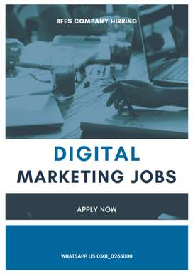 Digital marketing expert job is here online apply to it and work