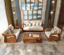 Sofa tamu minimalis kayu jati