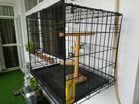 New cage for puppy or birds, size(L,W,H 24,18,20 inch)