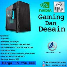 PC RAKITAN INTEL i5 10400f RAM 16GB ADATA D60 DDR4 3200 MHZ RTX 2060