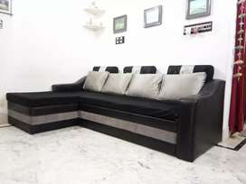 sofa cam bed (mahogini)with cover @3000