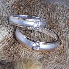 Cincin couple perak emas platina palladium kawin nikah tunangan