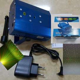 Mini Laser Stage Lighting Sensor Music/Lampu Disco Ruangan