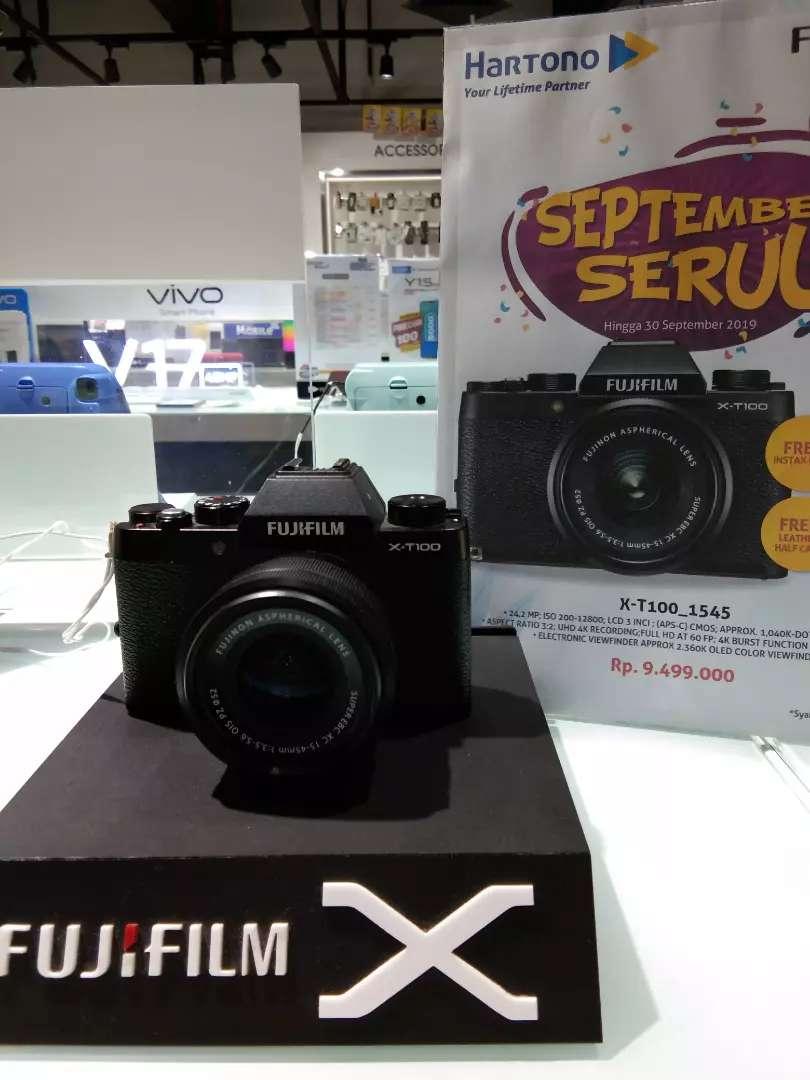 Cicil kamera fujifilm X-T100 tanpa kartu kredit cuma 3menit no ribet 0