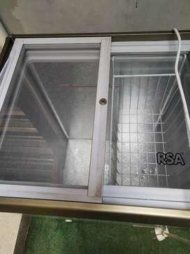 Freezer sliding glass