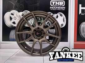Cicil Velg Mobil DP 10% HSR Wheel KAMIKAZE Ring 16 Hole 4x100-114,3