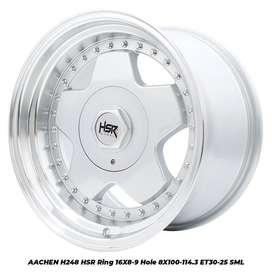 velg racing AACHEN H248 HSR R16X8/9 H8X100-114,3 ET30/25 SML