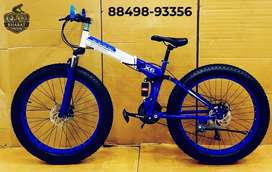 FOLDABLE FAT TYRE CYCLE , 26*4 INCH WHEELS AND 21 GEARS