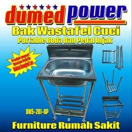 Bak Cuci Tangan Steril / Wastafel Portable Knockdown Kran Pedal Injak