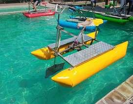 wahana perahu sepeda air kayuh fiber AF odong odong