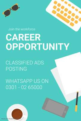 Opportunity for everyone to make and earn money at home.
