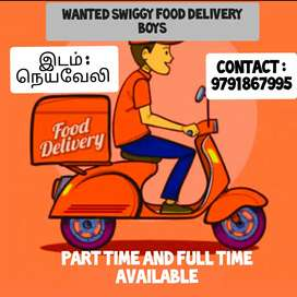 Wanted swiggy Delivery Boys