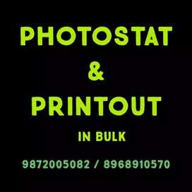 Photostat & Printing machine operator