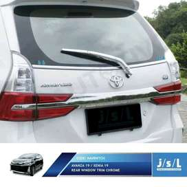 Lis Chrome Kaca Belakang Avanza, Xenia Grand,  All New Include Pasang