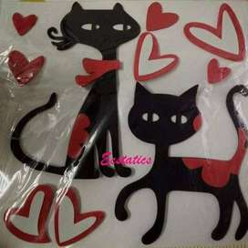 Cats Love 3D Wall Stickers
