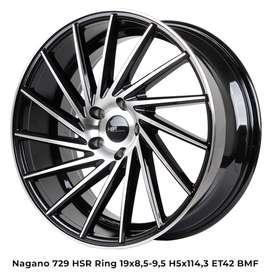 Velg keren NAGANO 729 HSR R19X85/95 H5X114,3 ET42 BMF