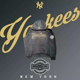 Jaket Hoodie Baseball MLB Yankees Navy