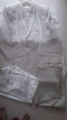 Cream Suit 3 pc- XL size