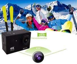 """Kamera Aksi HD 4K WiFi 2.0 """"170 ° 30m Underwater Waterproof Helmet Cam"""