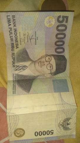 UANG 50.000 SOEPRATMAN