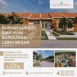Rumah Subsidi Fasilitas Komersil Bangunan Lebih Luas