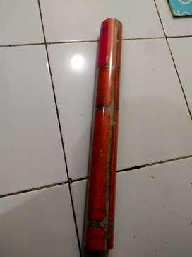 Wallpaper sticker motif bata merah (best seller)